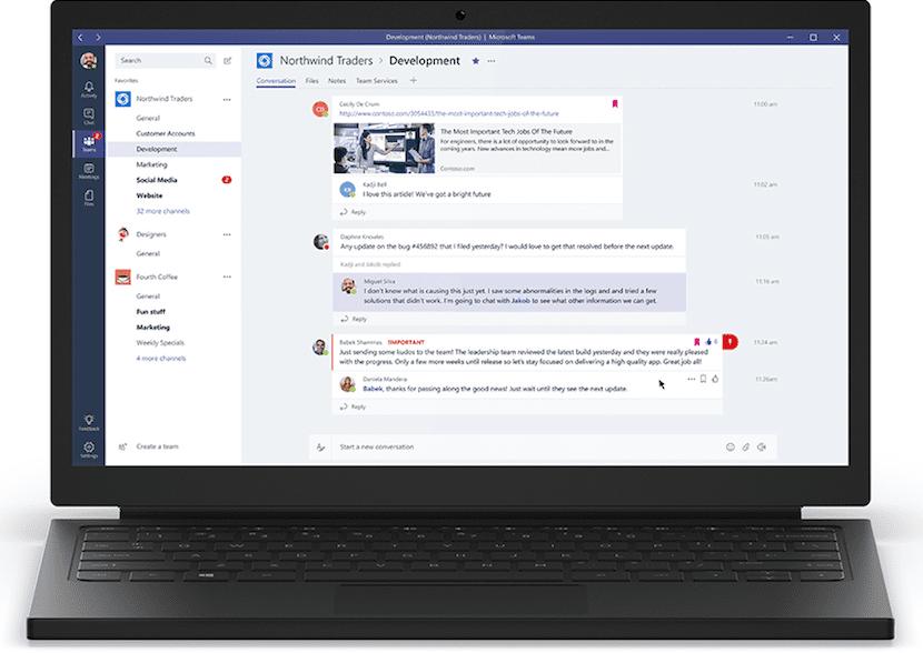 """Microsoft lanza """"Teams"""", un espacio de trabajo colaborativo como rival a Slack"""
