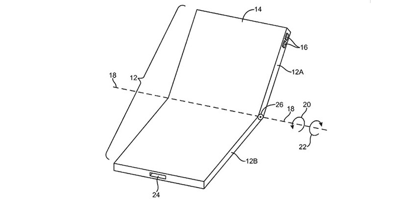 Patente de iPhone plegable