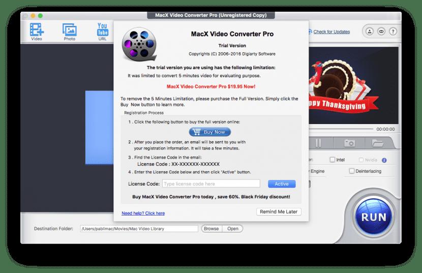 Activar MacX Video Converter Pro