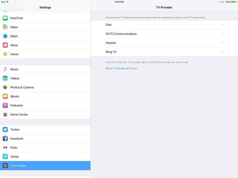 Acceso Único en el iPad