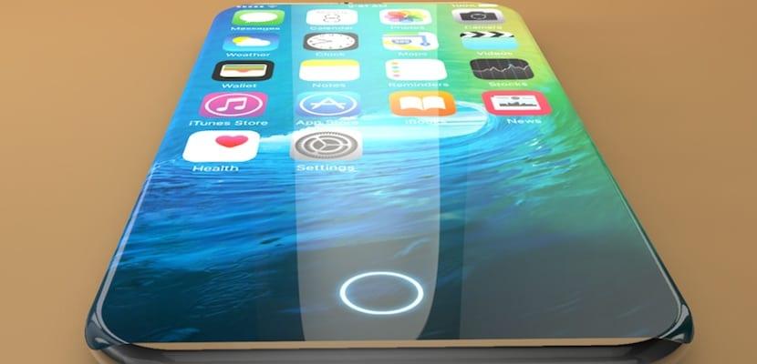 Concepto de iPhone 8 con pantalla OLED