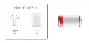 Bateria baja caja AirPods