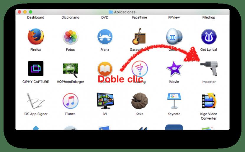 Ejecutando Cydia Impactor