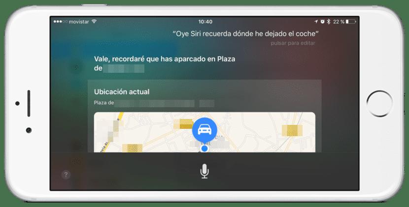 Dónde he aparcado iOS 10