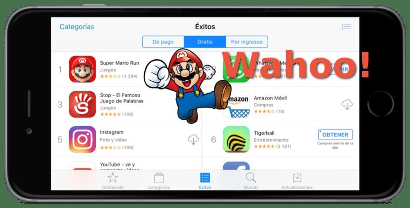 Super Mario Run y el App Store