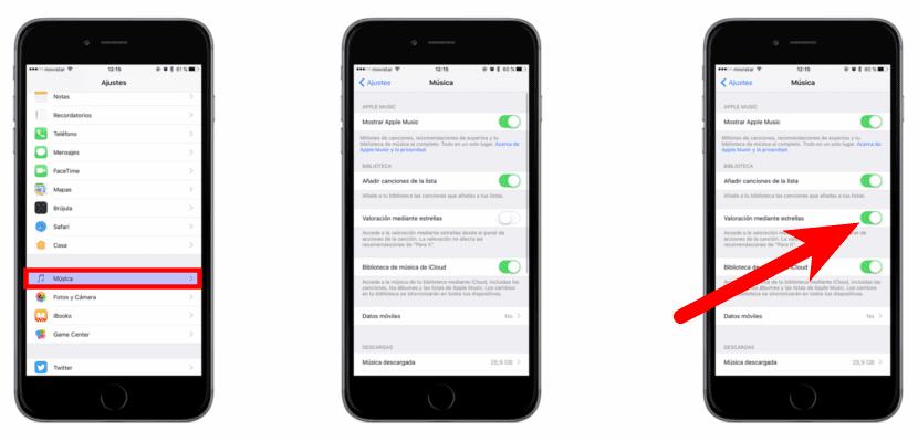 Activar Valoración mediante estrellas en iOS 10