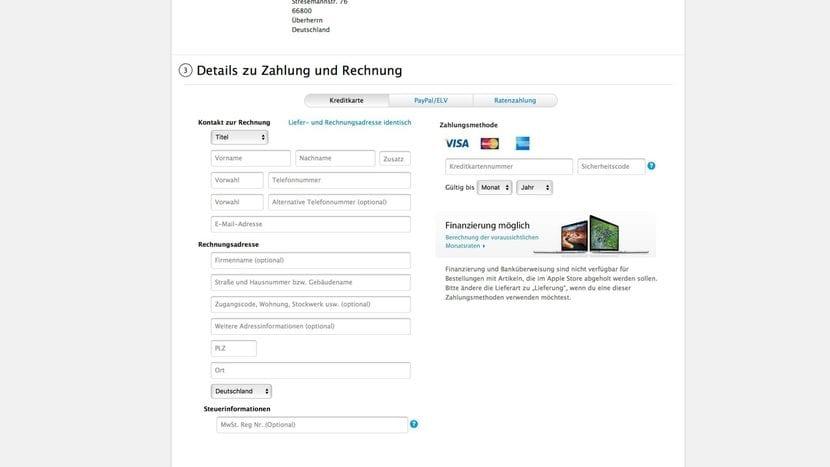 Métodos de pago en el Apple Store de Alemania