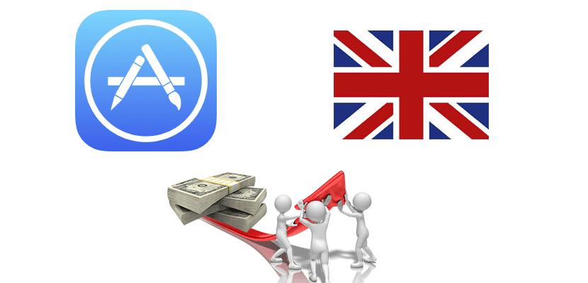 Aumento de precios en el app store británica