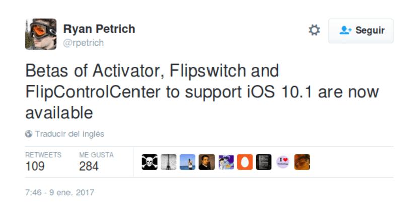 Beta de Activator, Flipswitch y FlipControlCenter ya disponibles para iOS 10