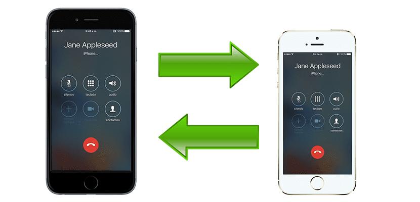 Llamadas de un iPhone que suenan en otro