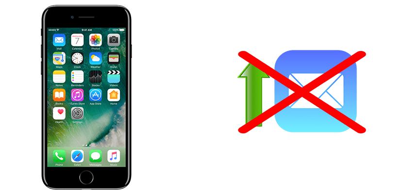 Mi iPhone no envía correos