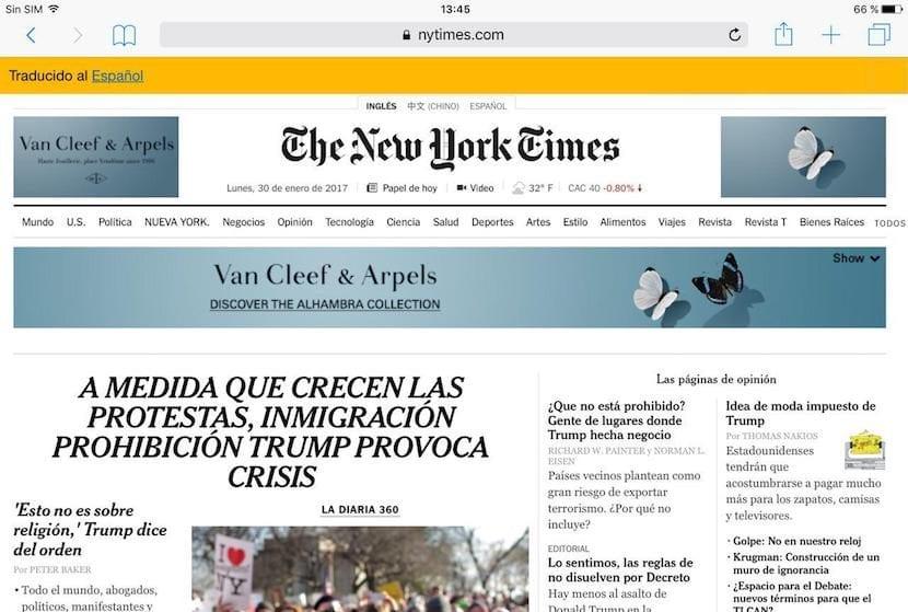 Cómo traducir páginas web en Safari para iOS sin abandonar el navegador