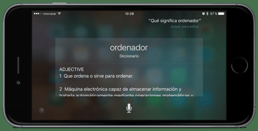 Definir palabras con Siri