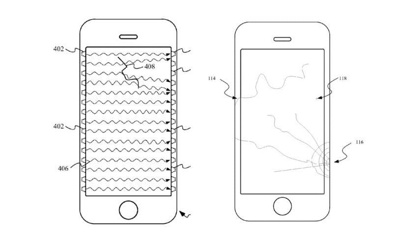 Patente detección de roturas de Apple