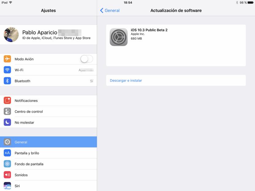 iOS 10.3 beta 2 pública