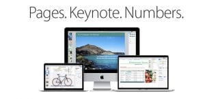 Pages, Numbers, Keynote