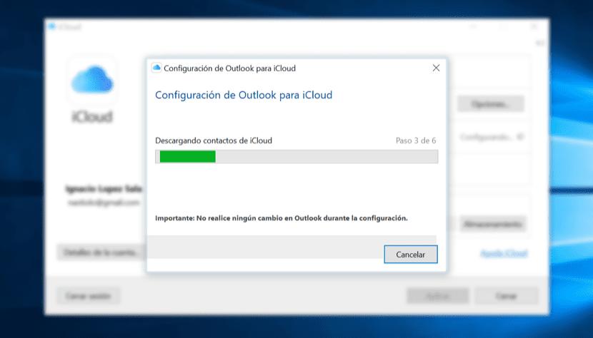 Configurar Outlook para iCloud