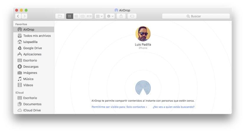 Airdrop en Mac