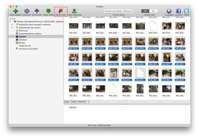 iFunbox -Cómo pasar fotos del iPhone al ordenador