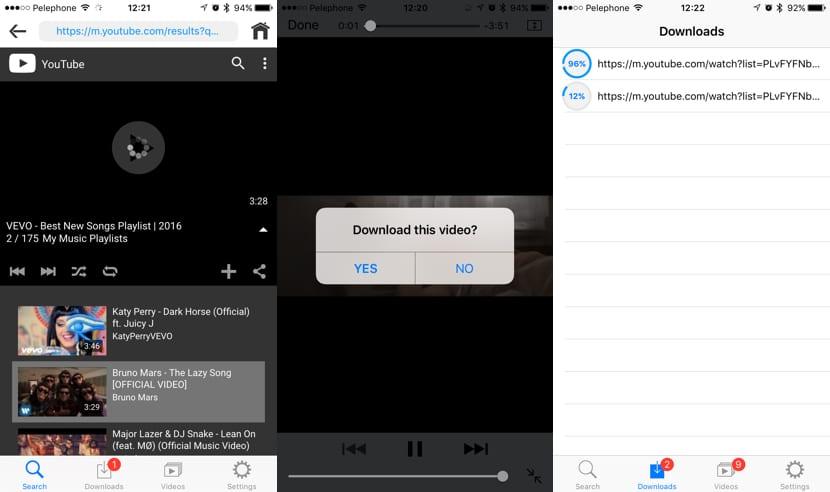 Aplicaciones para descargar vídeos de YouTube