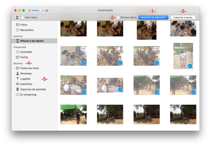 Fotos del iPhone al Mac con la app de fotos