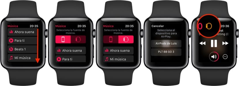 Escuchar música en el Apple Watch sin iPhone
