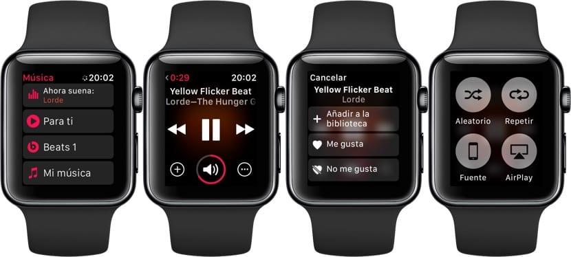 Música en el Apple Watch