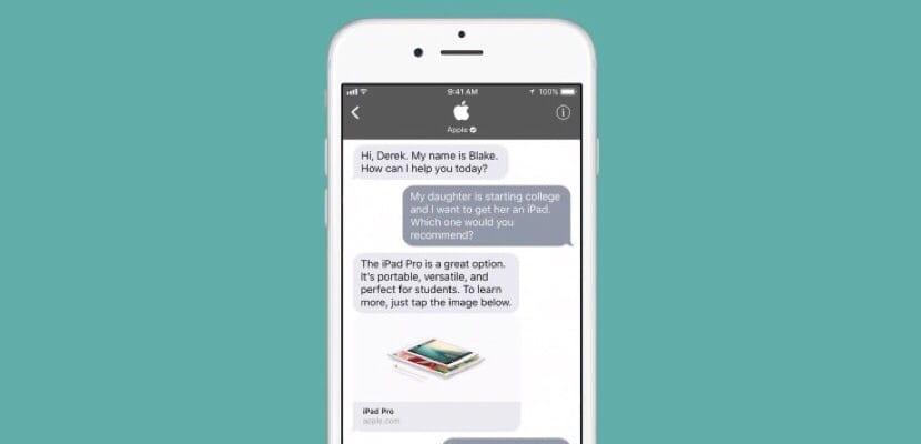 iOS 11 mejorará la atención al cliente con Business Chat en Mensajes