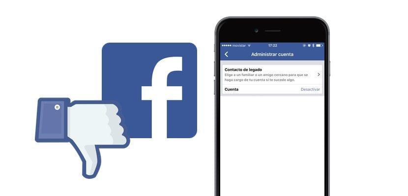 Borrar Facebook desde el iPhone