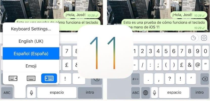 27dc1a8192c Escribir es más fácil con iOS 11 y el teclado de una sola mano