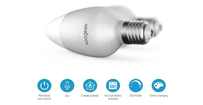 Koogeek lanza oficialmente su bombilla WiFi Smart LED Light