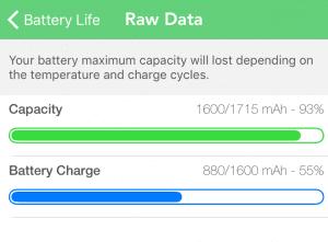 Comprobando el estado de la batería