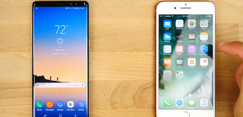 Galaxy Wallpaper Iphone 7 Plus: Test De Velocidad Entre El IPhone 7 Plus Y El Galaxy Note 8