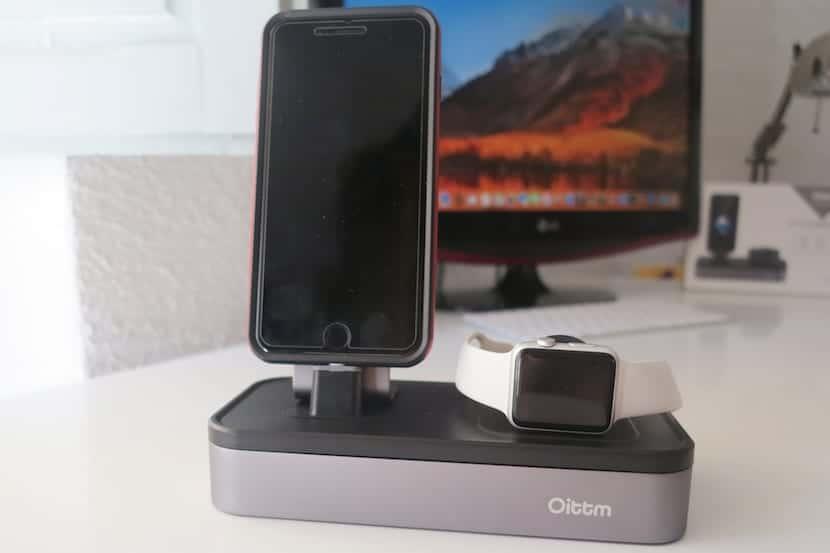 Base carga para iPhone y Apple Watch de Oittm