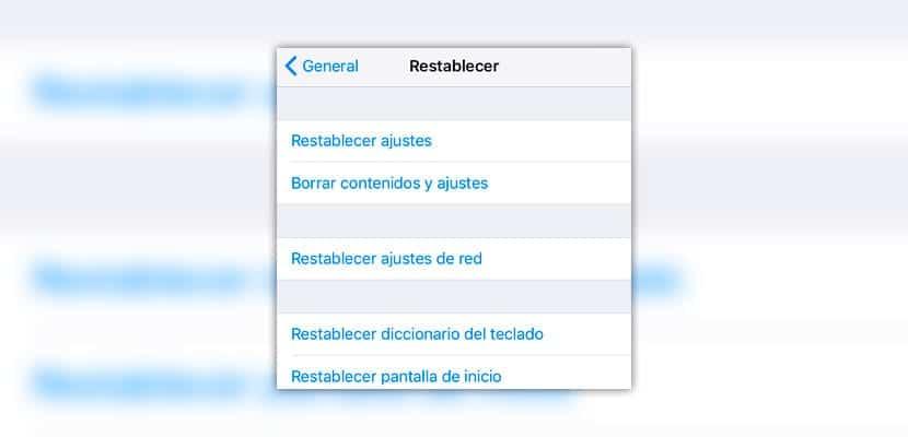 Restablecer diccionario del teclado