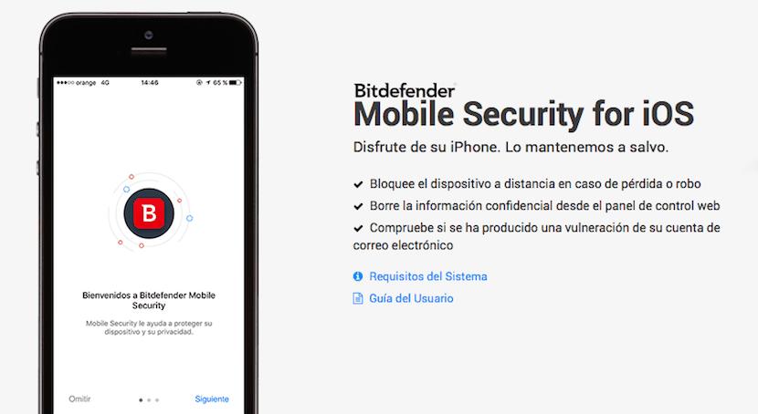 Controla la seguridad y privacidad en usted iPhone con Bitdefender