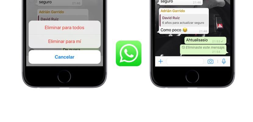 WhatsApp ya permite eliminar los mensajes enviados desde el iPhone