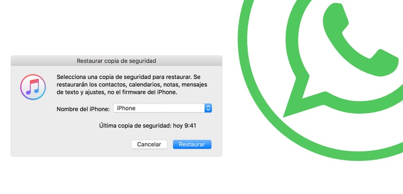 Restaurar de iTunes