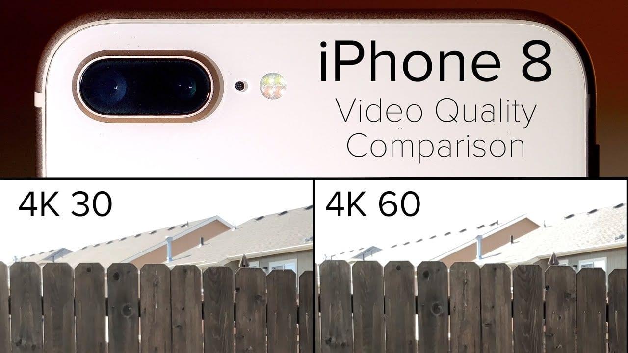 La grabación en 4k a 60 fps del iPhone 8 reduce la calidad del vídeo