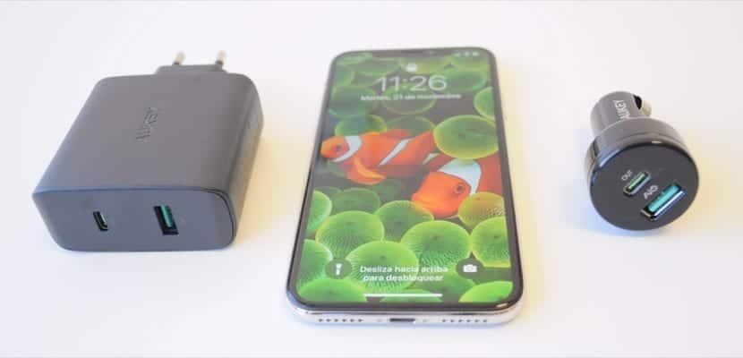 1707e4819ba Cargadores Aukey para carga rápida del iPhone X, 8 y 8 Plus