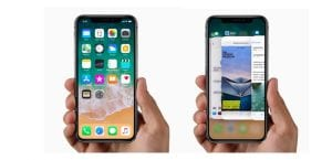 iPhone X cerrando apps vista previa