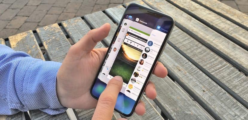 Cómo cambiar rápidamente entre aplicaciones en el iPhone X