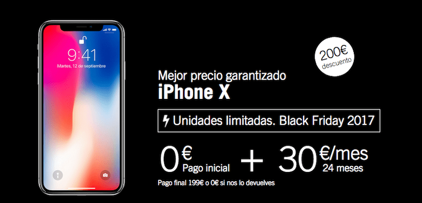 Iphone x comprar yoigo