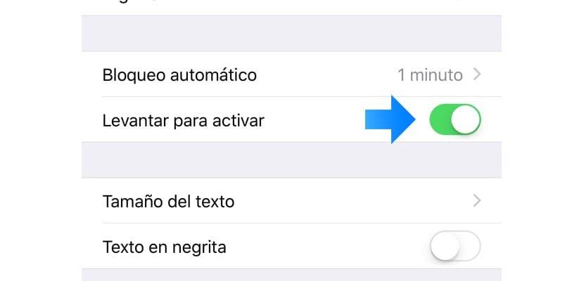 Desactivar iPhone X función levantar para activar