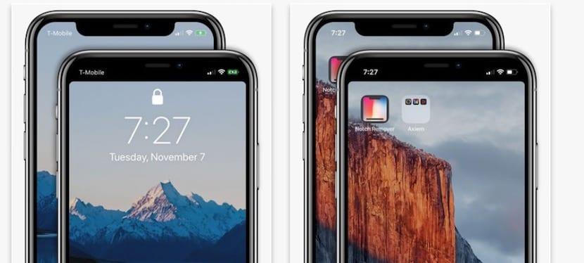 """Apple aprueba la aplicación """"Notch Remover"""" para el iPhone X"""