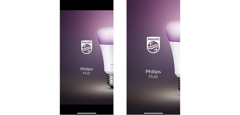 Cambio en la interfaz de usuario de Philips Hue para iPhone X