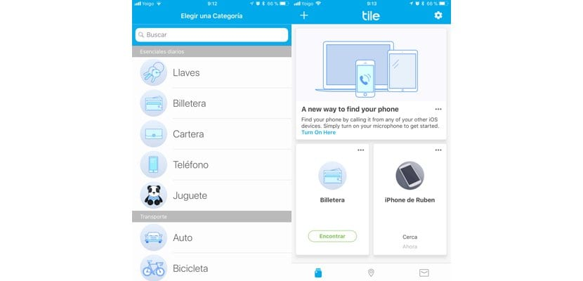 Configurar Tile con un iPhone
