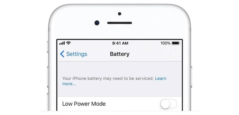 estado de la batería del iPhone desde Ajustes
