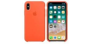 Silicone Case naranja cúrcuma iPhone X