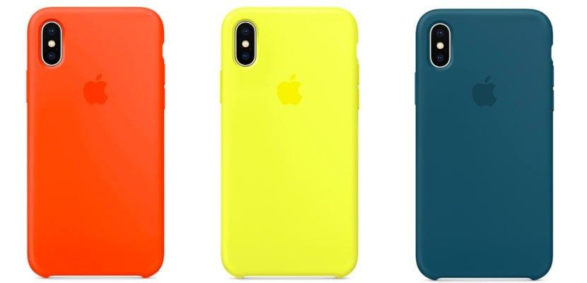 nuevos colores Silicone Case para iPhone X
